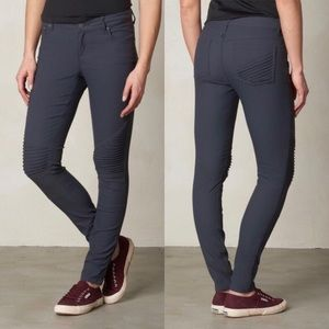 Prana Gray Moto Brenna Pants